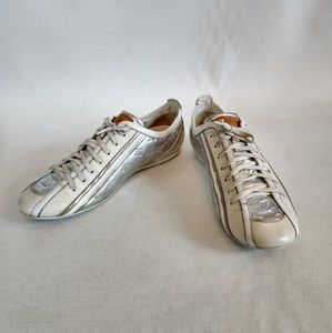 Louis Vuitton white and silver Impulsion sneakers